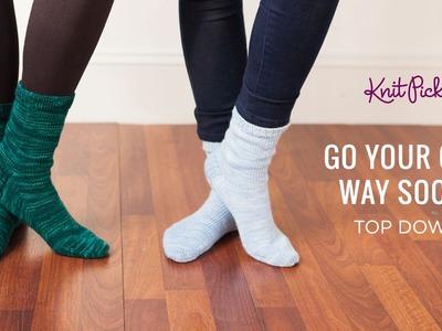 Go Your Own Way Socks Top Down - Part 6 - Heel Gusset