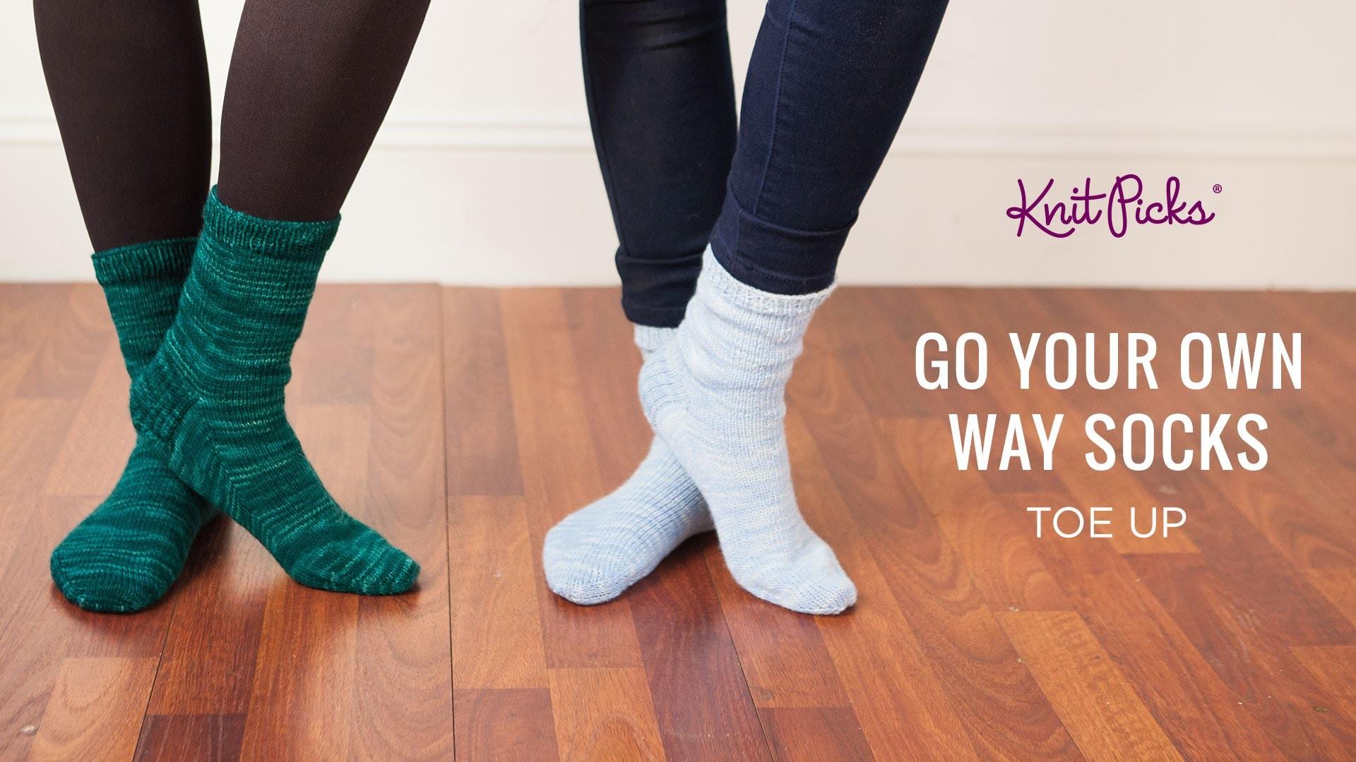 Go Your Own Way Socks Top Down - Part 8 - Kitchener Stitch