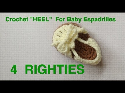 "HEEL for 4"" Baby Espadrilles - Part 2.3 (4 Righties)"