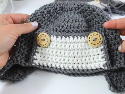 How to Crochet a Cute Toddler Aviator Hat