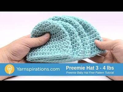 How to Crochet A Preemie Hat: 3 - 4 lbs
