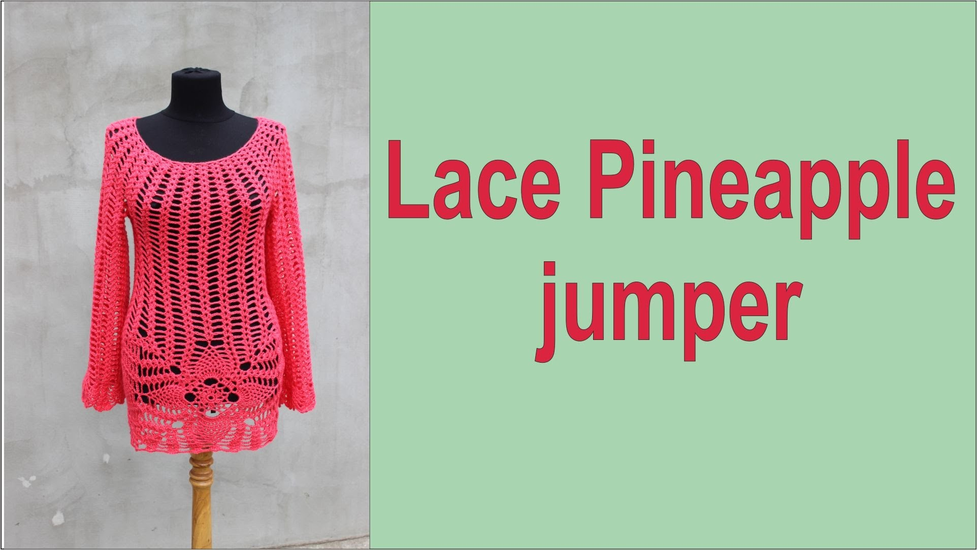 How to crochet Lace jumper Pineapple top Free pattern  part2 #crochet_jumper