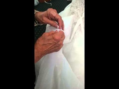 How to do 5 Point Bustle on Wedding Dress