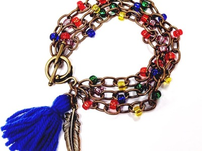 How to Make A Wanderer Beaded Chain Bracelet