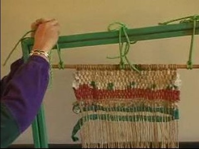 How to Weave on a Frame Loom : How to Tighten a Warp in Weaving