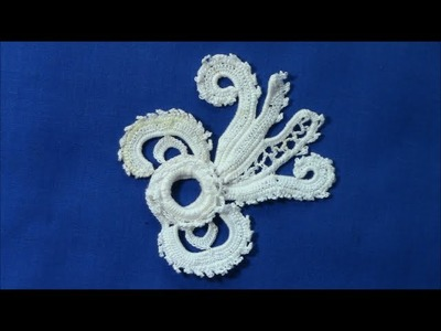 Irish Crochet Lace, A deep border design,flower part 2