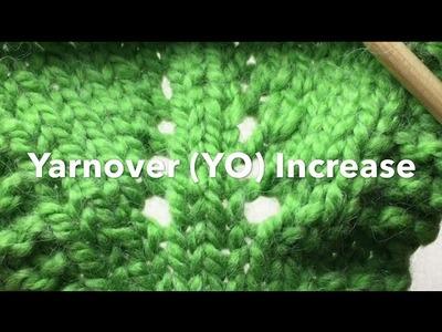 Needle Knit YarnOver Increase (YO also a YF or Yarn Front)
