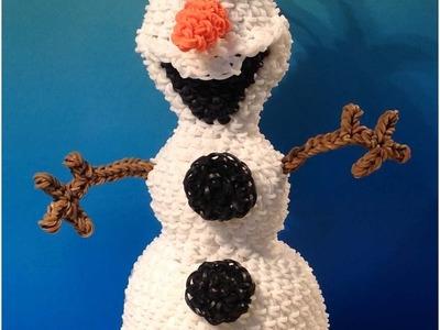 Olaf Loomigurumi Amigurumi Frozen Snowman Part 1 - Rainbow Loom Band Crochet Hook Only Лумигуруми