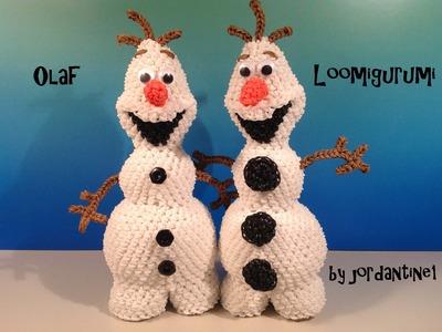 Olaf Loomigurumi Amigurumi Frozen Snowman Part 2 - Rainbow Loom Band Crochet Hook Only Лумигуруми