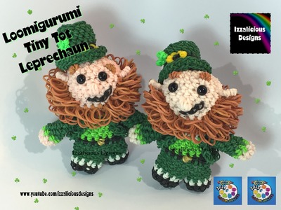 Rainbow Loom Loomigurumi Tiny Tot Leprechaun Pt2 w. Loom Bands for St Patrick's Day | St Paddy's Day
