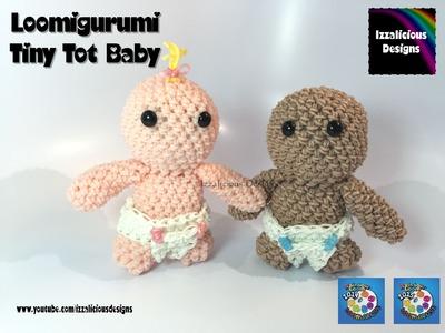 Rainbow Loom Loomigurumi Tiny Tot Baby Doll made w. Rainbow Loom Bands
