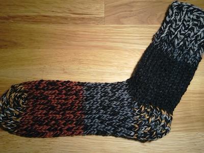 Sock with heel and toe on addi