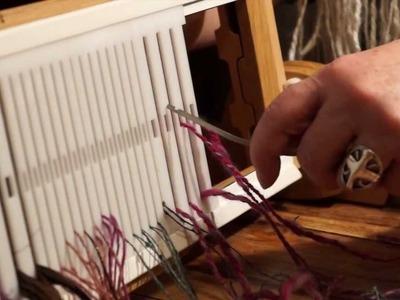WoolWench Warps a Majacraft Dynamic Heddle Loom