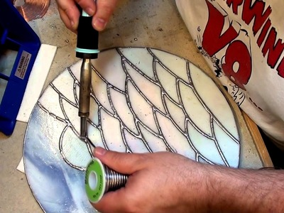 A circular fused glass wall hanging - Part 4