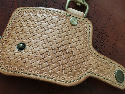 Basketweave leather stamping