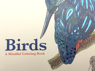 Birds Adult Coloring Book Review and Flipthrough.