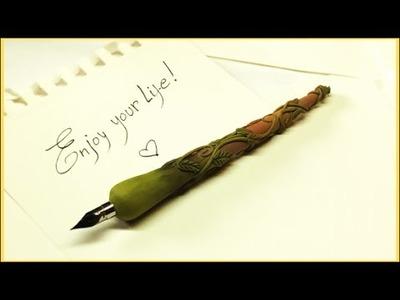 Dip pen- Polymer clay tutorial