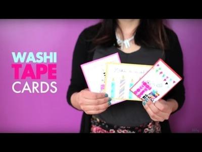 DIY Card Making with Washi Tape