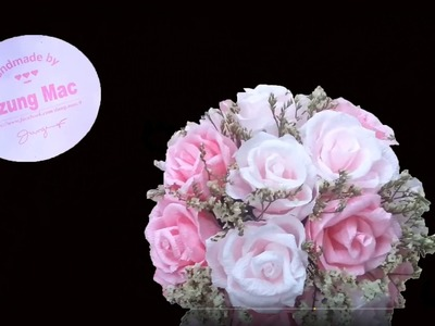DIY.crafts - How to Make a Wedding Bouquet - cách bó hoa cưới