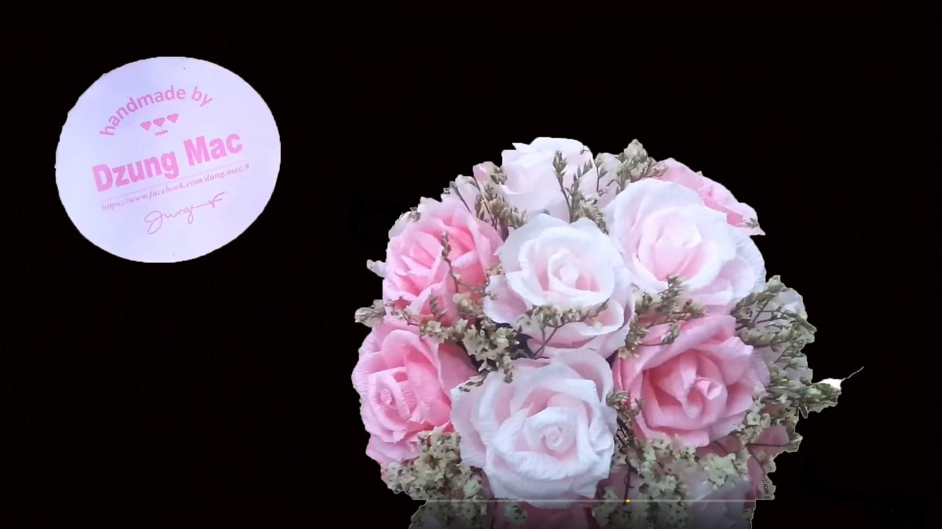 DIY.crafts - How to Make a Wedding Bouquet - cách bó hoa cưới
