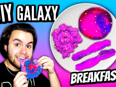 DIY Galaxy Breakfast! | How To Make Galaxy Eggs, Bacon, & Pancakes! | Tumblr Inspired Food Tutorial