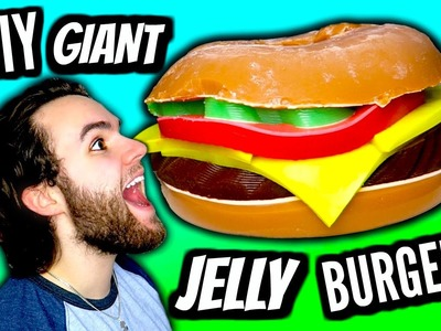 DIY Giant Jelly Burger! | How To Make HUGE Gummy Jello Cheeseburger Tutorial!