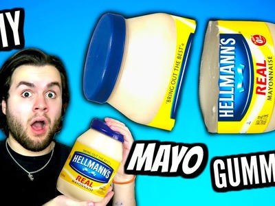 DIY Giant Jelly Mayonnaise! | How To Make Gummy Edible Jello Mayo Bottle Tutorial!