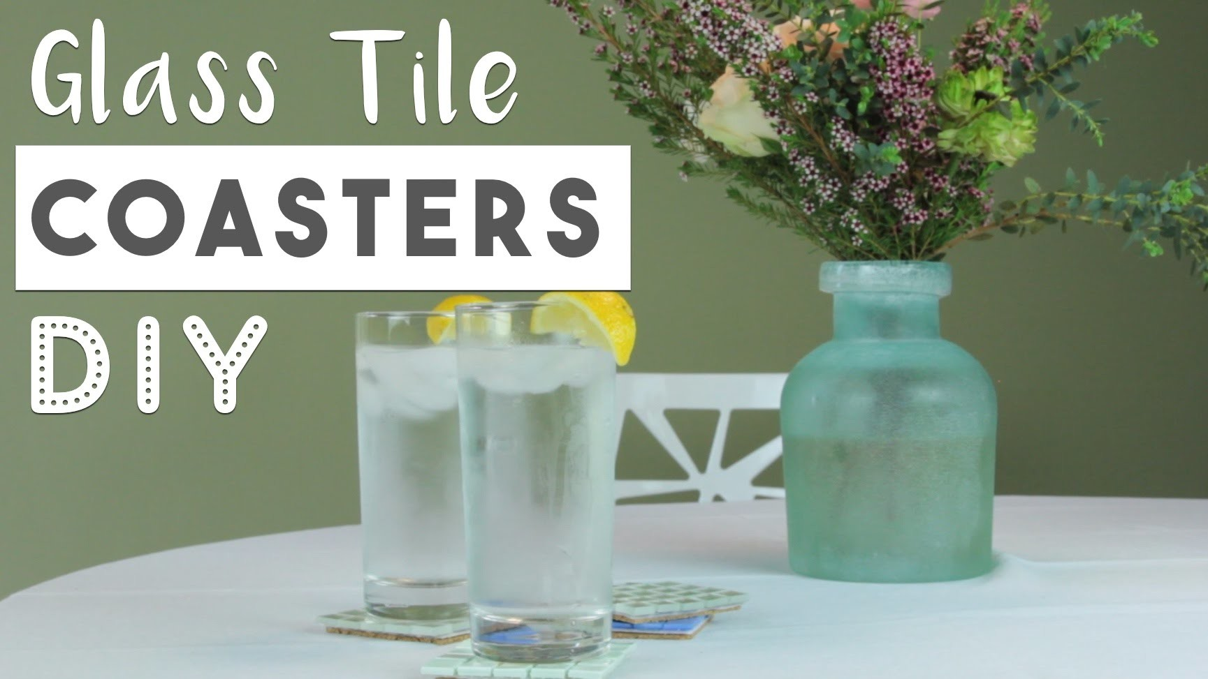 DIY Glass Tile Coasters   Easy Mother's Day Gift Idea