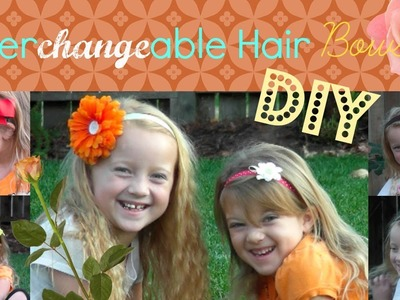DIY Interchangeable headbands and Hair Ties - Simply flower and Bows