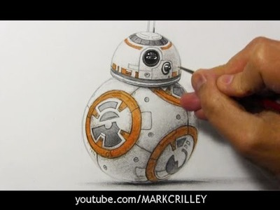 "Drawing Time Lapse: BB-8 from ""STAR WARS: The Force Awakens"""