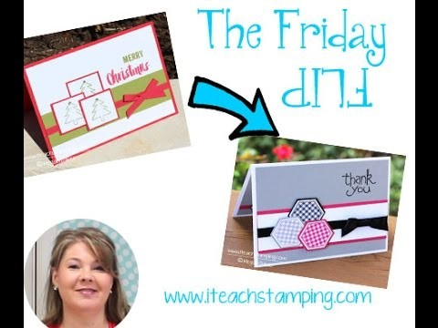 Friday Flip Making a Thank You Card with Stamps