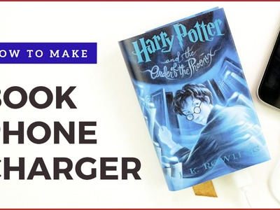 Harry Potter Book Phone Charger | DIY iPhone Charger | DIY Book Phone Charger