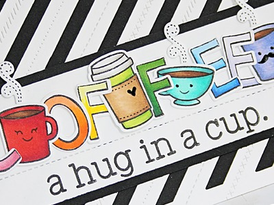How to make a coffee themed card