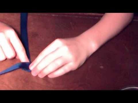 How to make a folded ribbon rose! (READ DISCRIPTION)