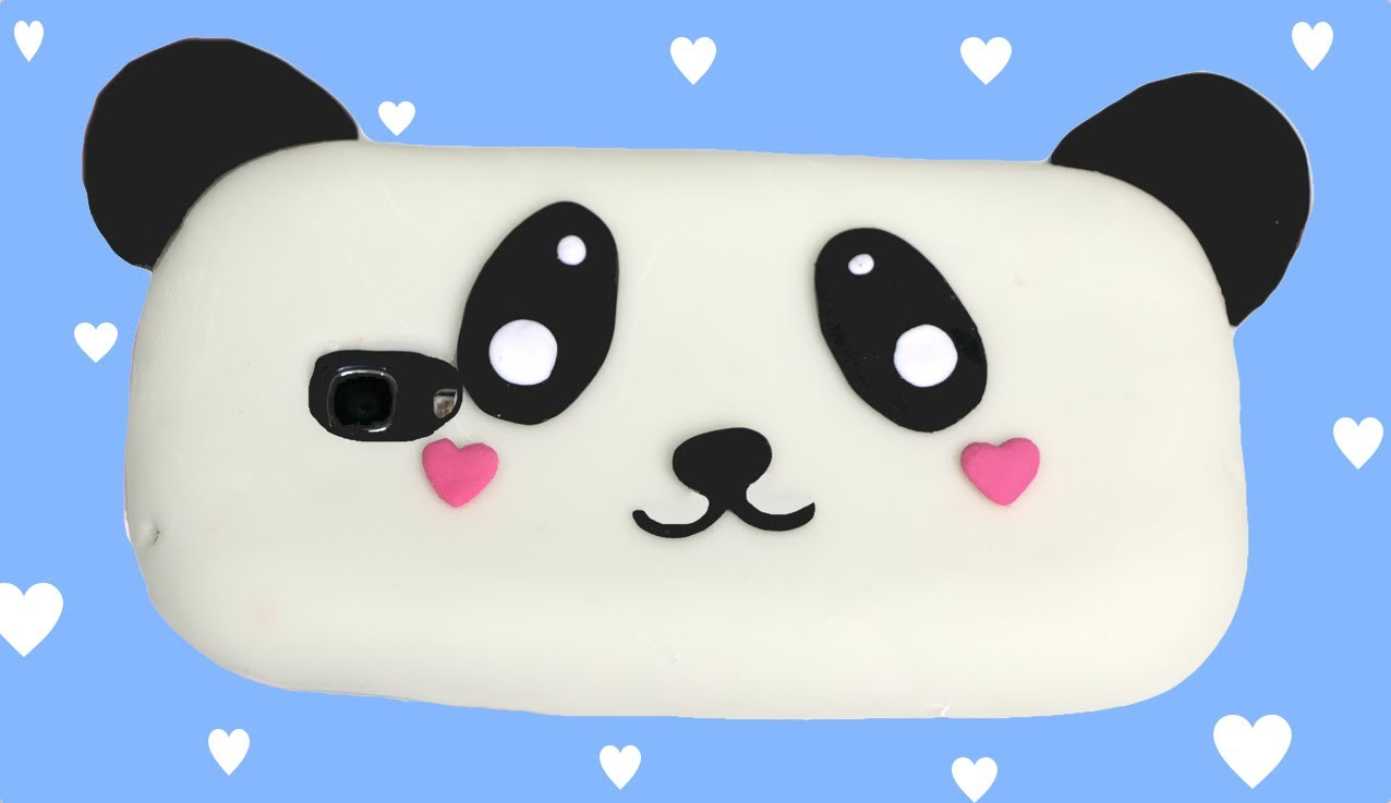 How to make a silicone phone case: Panda kawaii