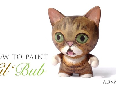 How to Paint Lil BUB on a Custom Kidrobot TRIKKY - Livepaint ASMR Tutorial