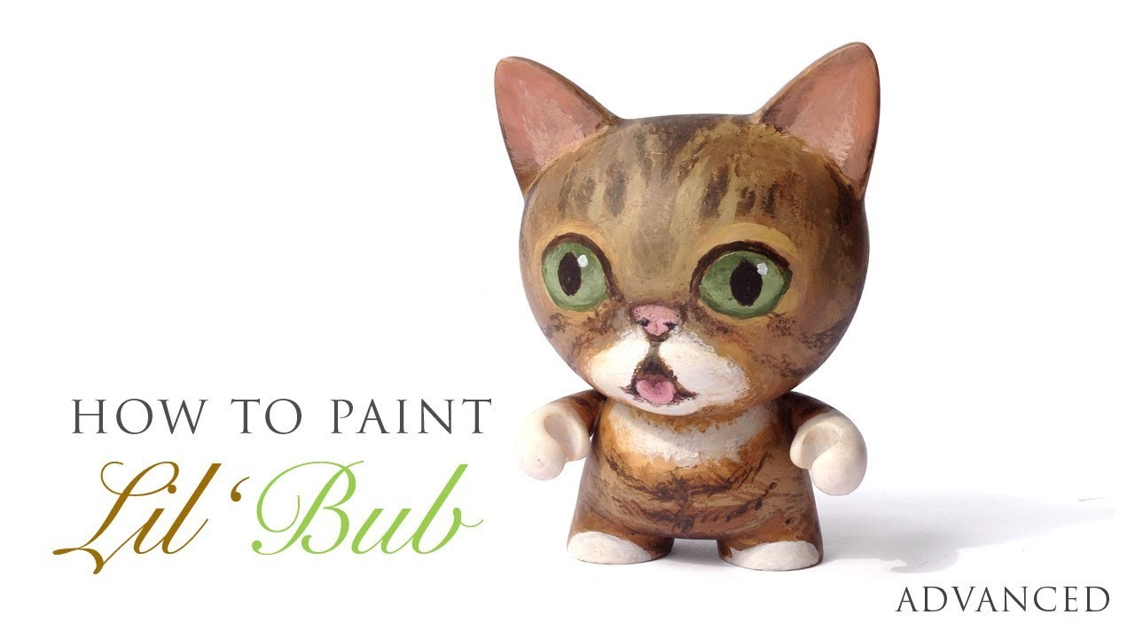 How to Paint Lil BUB on a Custom Kidrobot TRIKKY - Livepaint ASMR Tutorial