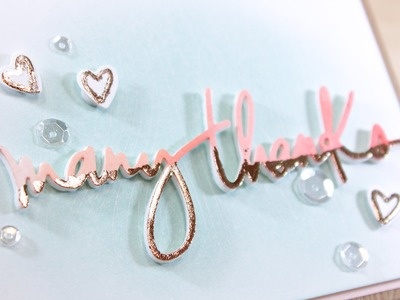 Many Thanks Ombre Dipped Die Cuts - Essentials By Ellen Winter 2016 Release Blog Hop