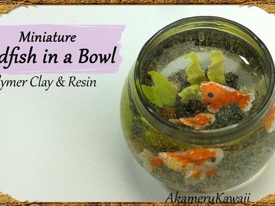 Miniature Goldfish Bowl - Polymer Clay & Resin Tutorial