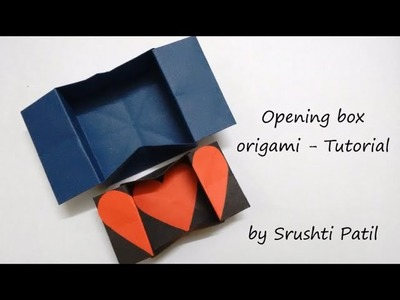 Opening box origami - Tutorial | by Srushti Patil