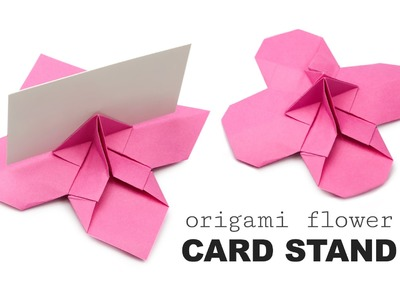 Origami Flower Shaped Card Holder Tutorial ♥︎ DIY ♥︎