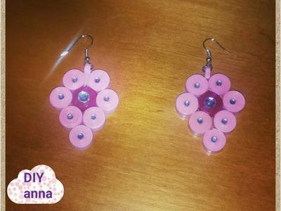 Quilling paper earrings DIY ideas craft tutorial. URADI SAM