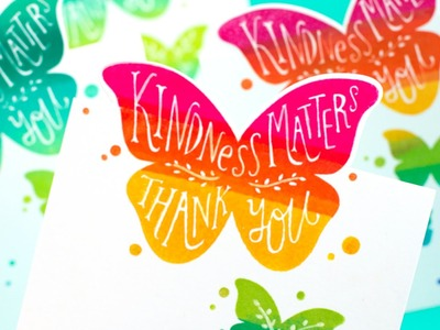 Rainbow Stamping + On-the-Edge Die Cutting