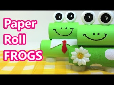 Recycled Art Projects: Cute Paper Roll Frogs Recycled Bottles Crafts