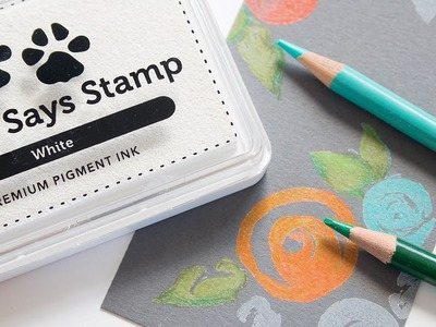 Simon Says Stamp White Pigment Inking Techniques