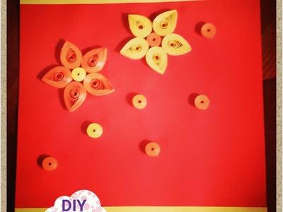 Simple quilling paper card flower DIY ideas decorations tutorial. URADI SAM