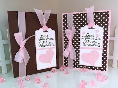 Simply Simple Now or WOW Flash Card - Love You More than Chocolate Card by Connie Stewart