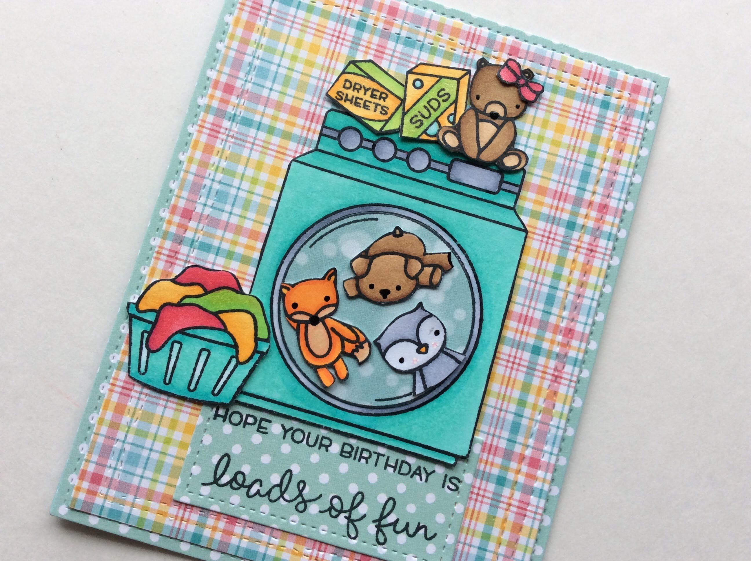 TUTORIAL (Voice Over) Birthday Card Not2ShabbyShop DT (Lawn Fawn and Neat&Tangled)