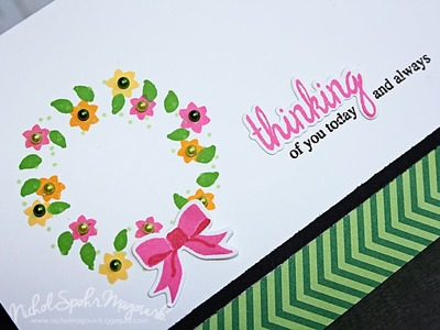 Whimsy Stamps | Spring Wreath Card