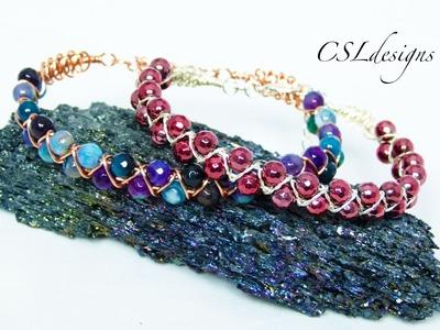 Wirework goddess macrame bracelet